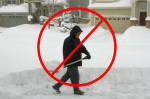 no shoveling when you contract for our snowplowing services